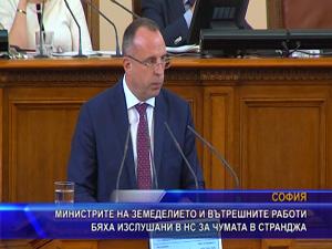 Министрите на земеделието и вътрешните работи бяха изслушани в НС за чумата в Странджа