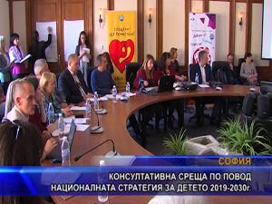 Консултативна среща по повод националната стратегия за детето 2019-2030г.