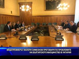 Вицепремиерът Валери Симеонов преговаря по проблемите на българското малцинство в Унгария