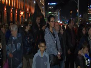 Вяло премина тазвечершния протест пред МС