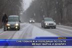 Снеговалеж и поледица по пътя между Варна и Добрич