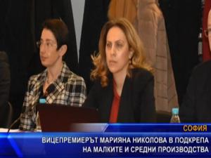 Вицепремиерът Марияна Николова в подкрепа на малките и средни производства