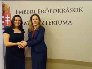 Посещение на Марияна Николова в Унгария