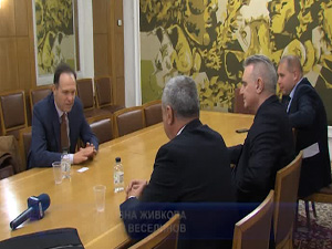 Валери Симеонов се срещна с новия посланик на Р България в Украйна