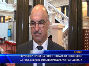 НС удължи срока за подготовката на нов Кодекс за поземлените отношения до края на годината