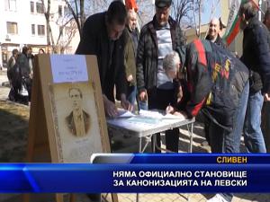 Няма официално становище за канонизацията на Левски