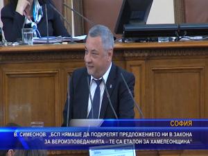 Симеонов: БСП нямаше да подкрепят предложението ни в закона за вероизповеданията – те са еталон за хамелеонщина