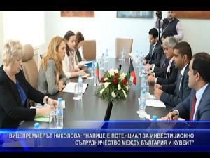 Вицепремиерът Николова: Налице е потенциал за инвестиционно сътрудничество между България и Кувейт