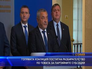 Голямата коалиция постигна разбирателство по темата за партийните субсидии