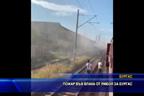 Пътнически влак от Ямбол за Бургас се запали