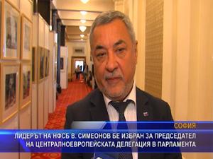 Симеонов е избран за председател на централноевропейската делегация в парламента