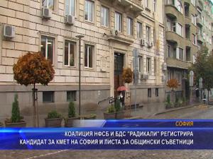 """Коалиция НФСБ и БДС """"Радикали"""" регистрира кандидат за кмет на София и листа за общински съветници"""