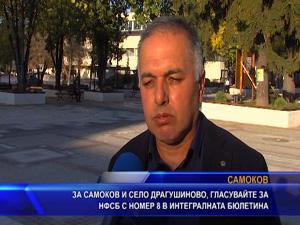 За Самоков и село Драгушиново, гласувайте за НФСБ с номер 8 в интегралната бюлетина
