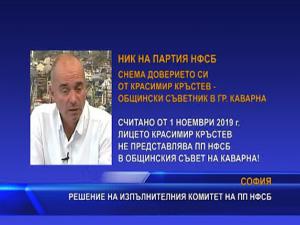НИК на НФСБ сне доверието си от Красимир Кръстев